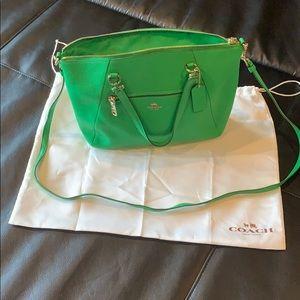 Gorgeous green Coach bag